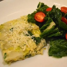 Baked, Potato, Leek and Spinach Frittata