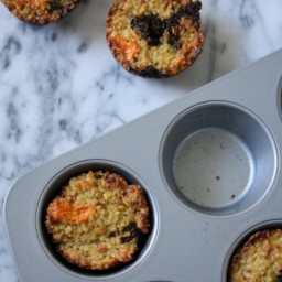 Baked Quinoa Cakes with Broccoli & Sweet Potatoes
