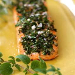 Baked Salmon with Herbs and Lemon