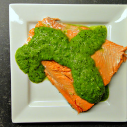Baked Salmon with Pea Puree (DailyBurn Ignite)