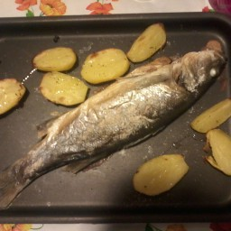 Baked Sea Bass with Slow Cooked Fennel And Potato And Sor