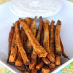 Sweet Potatoe Fries with Honey-Lime Dip