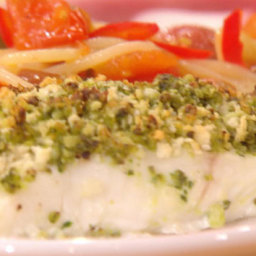 Baked Fish with Olive Pesto