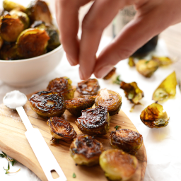 Balsamic Sea Salt Roasted Brussels Sprouts
