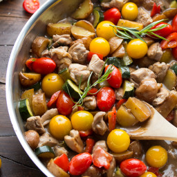 Balsamic Tarragon Chicken Skillet