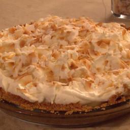Banana and Coconut Cream Pie with Graham Cracker Crust