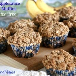 Banana Applesauce Streusel Muffins ~ Gluten Free