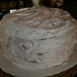 Banana Cream Cake with Strawberry Cream Filling