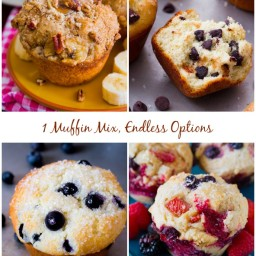 Banana Nut Muffins and Very Berry Muffins