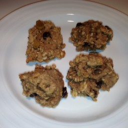 Banana Raisin Choc Chip Walnut cookies
