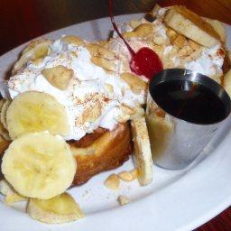 Banana Sour Cream Waffles