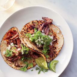 Barbacoa Beef Tacos with Two Sauces