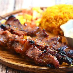 Barbecue Pork on a Stick