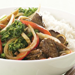 Basic beef and vegetable stir-fry