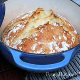 Frugal Living NW Basic No-Knead Bread