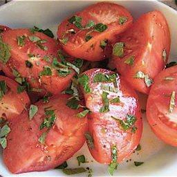 Basil Marinated Tomatoes
