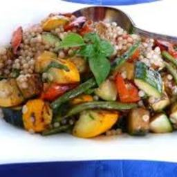 Basil Roasted Vegetables over Couscous (1+)