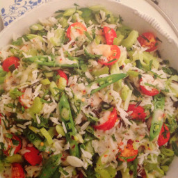 Basmati and wild rice salad