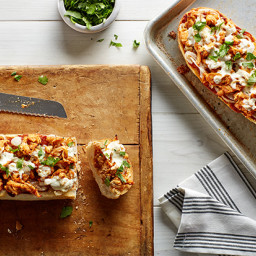BBQ Chicken French Bread Pizzas With Smoked Mozzarella