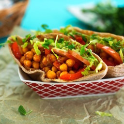 BBQ-Flavored Chickpea Pitas