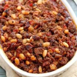 BBQ Hamburger Bean Casserole