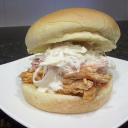 ... Dish Poultry - Chicken BBQ Pulled chicken sandwiches with coleslaw