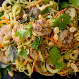 BBQ Shrimp with Thai Cucumber Noodles