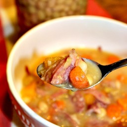 Bean and Ham Soup-Frugal Suppers