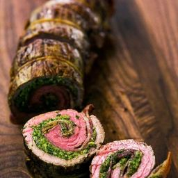 ... Dish Meat - Steaks and Chops Beef Roulades with Walnut Parsley Pesto