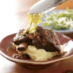 Beef Short Ribs, Asian-style with Julienned Leeks