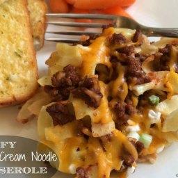 Beefy Sour Cream Noodle Casserole