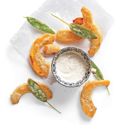 Beer-Battered Pumpkin with Dipping Sauce