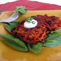Beet & Carrot Latkes