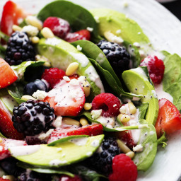 Berry Avocado Salad with Creamy Raspberry Poppyseed Dressing