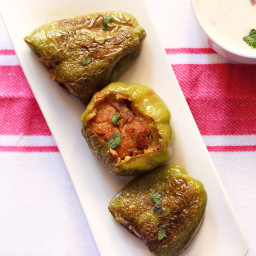bharwan shimla mirch | stuffed capsicum recipe
