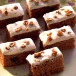 Bibi's Frosted Ginger Bars