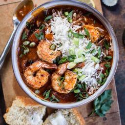 Big Easy Style Saucy Creole Shrimp.