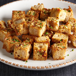 Bite-Size Garlic Bread with Fresh Herbs