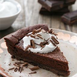Bittersweet Chocolate Bourbon Tart