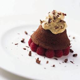 Bittersweet Chocolate Cakes with Espresso Cream