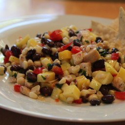 Black Bean and Mango Chicken Salad