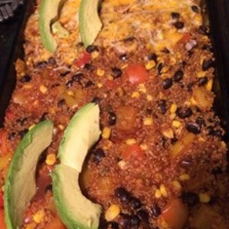 Black Bean and Quinoa Enchilada Bake