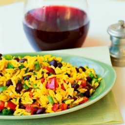 Black Bean and Yellow Rice Salad