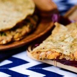 Black-Eyed Pea and Sweet Potato Quesadillas