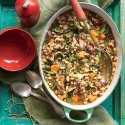 Black-Eyed Pea, Collard, and Sweet Potato Stew