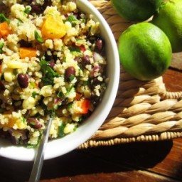 Black Bean, Orange and Corn Quinoa Salad
