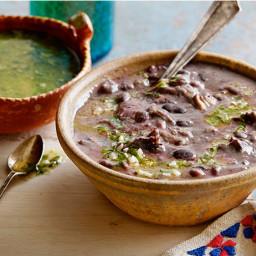 Black Bean Soup with Mojo