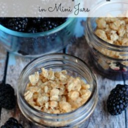 Blackberry Crisp Recipe in Mini Jars Recipe #12Bloggers