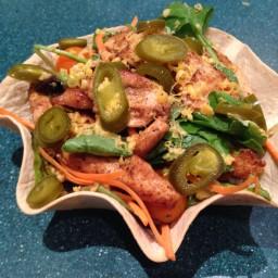 Blackened Chicken Tortilla Salad