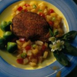 Blackened Chops with Pineapple Salsa